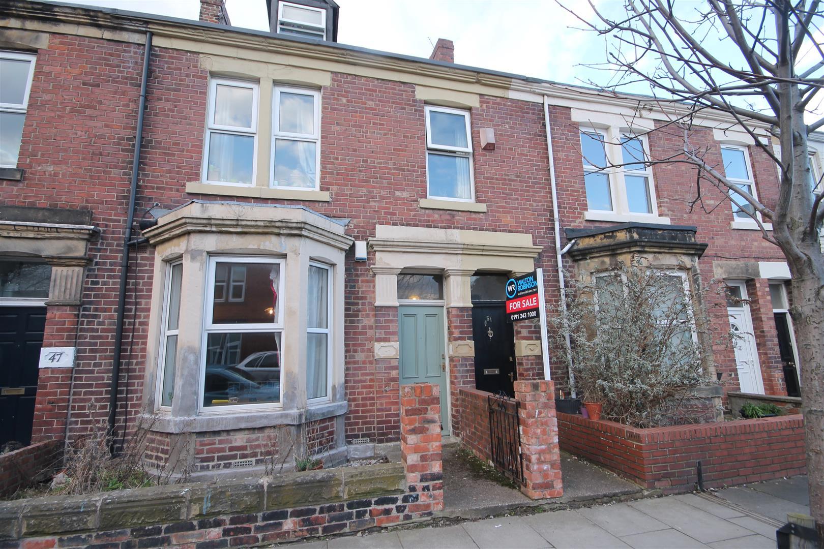 Mundella Terrace Newcastle Upon Tyne, 4 Bedrooms  Maisonette - upper ,For Sale